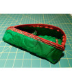 Quilted Green Silk Upcycled zipped case