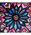 Fabric Stained Glass Rose Window