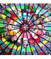 Fabric Rose Window