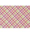 Pink checked cotton canvas - 100% cotton