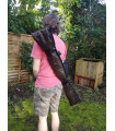 Upcycled Coffee-Brown Leather Weapons Bag